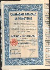 Compagnie Agricole de MINOTERIE (N)