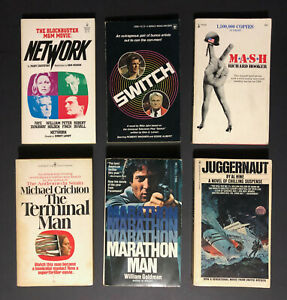 NETWORK, MASH, JUGGERNAUT, SWITCH, MARATHON MAN... TV/MOVIE TIE IN PAPERBACK LOT