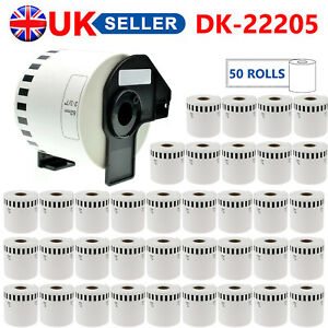 50X BROTHER DK22205 LABELS COMPATIBLE FITS THERMAL PRINTERS CONTINUOUS ROLLS