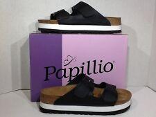 Birkenstock Papillio Birch Flor Womens Sz 10 Narrow Black Scandals Shoes ZG-1270