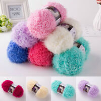 100g/Ball Faux Fur Mink Yarn Wool Mohair Cashmere Yarn DIY Hand Knitting Crochet