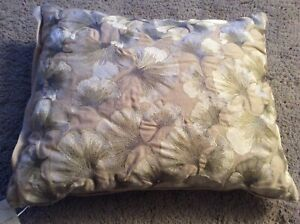 BNWT New Laura Ashley Laurena Embroidered Cushion 40x50cm - Natural 100% Cotton