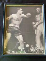 Rocky Marciano KO's Jersey Joe Walcott 1952 Framed 11x14 Sepia Tone Photo