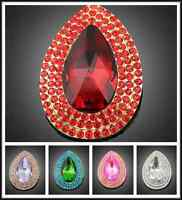 Gorgeous Large water-drop Crystal rhinestone brooch pin Pendant Wedding Women Ae