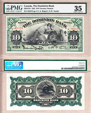 1925 $10 Dominion Bank (TD Bank) PMG CH VF35 Condition Rarity. 2nd Finest Known