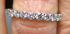 1.68 ct PLATINUM ROUND DIAMOND ETERNITY RING WEDDING BAND Size 6, F VS2 #