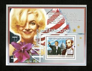 Guinea 2008 - Race to the 44th US Presidency, Obama, Lincoln, Monroe - S/S - MNH