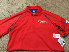 Majestic Red Philadelphia Phillies Cool Base Polo Men's Medium MSRP $50 NWT D12