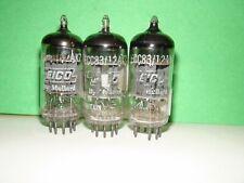 3 Vintage Eico Mullard 12AX7 ECC83 Vacuum Tubes Very Strong