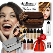 Belloccio Professional Beauty Airbrush Cosmetic Makeup System with 4 Medium