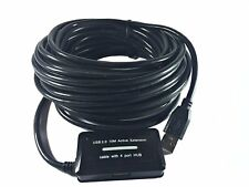 30 Feet USB 2.0 Active Repeater Extension Cable with 4-Port USB 2.0 Hub