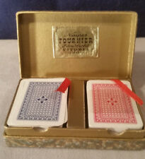 Bridge Liliput Playing Cards in Case Naipes Fournier Made in Spain Fibra Marfil