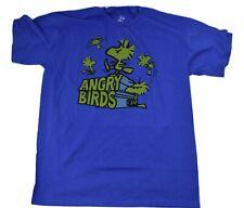 Peanuts Mens Upset Woodstock Kicking Angry Birds Shirt New S, L, XL