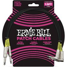 Ernie Ball 6076 Cavo Patch Black 46 cm 3 pz