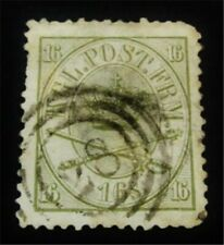 nystamps Denmark Stamp # 15 Used $175 F19y1410
