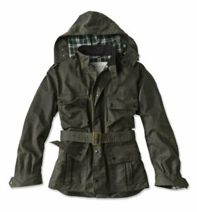 BARBOUR Ursula Waxed Cotton Jacket - Olive / Large
