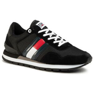 Tommy Hilfiger Casual Tommy Jeans Sneaker Black Trainers Shoes