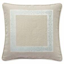 """Waterford Gwyneth European Euro Pillow Sham Taupe Pale Blue 26"""" x 26"""" New"""