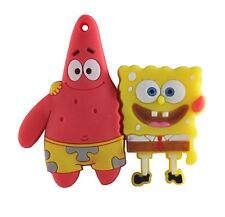 8 Go Spongebob & Patrick USB 2.0 Flash Pen Drive Memory Stick Sponge Bob Nouveau UK