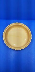 "Chantal Round Scalloped Yellow 10"" Ceramic Pie Plate Baking Dish Easter Spring"