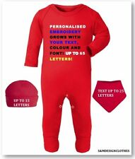 Personalized Your Text,Name Gift Pack Baby Outfit,Grow Christmas New Baby Gift