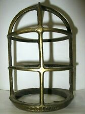 Oceanic Light Globe Guard Bronze Or Naval Brass Vintage Ships Nautical Marine