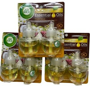 Air Wick PARADISE RETREAT Fragrance Scented Oil Refill 3 Packs - 6 Refills