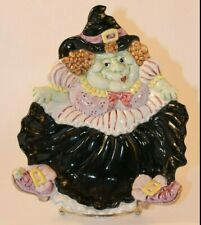 Vintage Fitz and Floyd 1992 Collectible Decorative Halloween Witch Plate Perfect