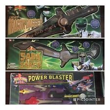 Power Rangers Legacy DRAGON DAGGER, Legacy SABA, and 1993 Power Blaster