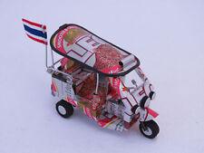 A2 - Tuk Tuk 3 Wheels Car Model Toy Handmade Mini Taxi THAI Thailand LEO BEER