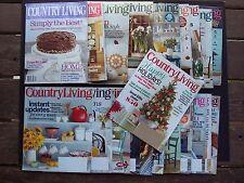Country Living Magazine 24 Lot 2005 2006 2011 2015  Home Design Holiday Decor