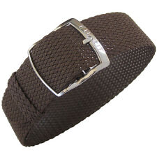 16mm EULIT Kristall Brown Tropic Woven Nylon Perlon German Made Watch Band Strap