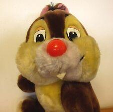 "CHIP N DALE Walt Disney World vtg plush doll 1970s beat-up chipmunk toy 11"""