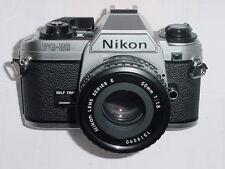 Nikon FG-20 35mm cámara SLR de película Manual Con Lente Nikon 50mm F/1.8 Serie E