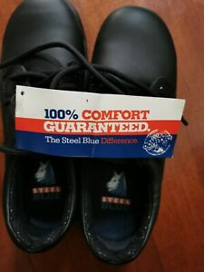 New Men's Steel Blue Safety Shoes size 5, USA 6 Euro 38