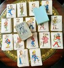 Antique SNAP 64 Playing Cards John Jacques Characters Grotesque Humour box 1880?