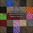 550 Paracord Popular Colors - 10, 25, 50, & 100 Ft Options - USA Made