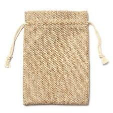 5pcs Vintage Burlap Jute Sacks Weddings Party Favor Drawstrings Gift Bags