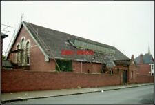 PHOTO  PENARTH WALES  THE DRILL HALL STRIPPING SLATES FROM THE DRILL HALL BEFORE