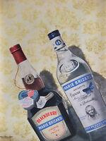 PUBLICITÉ DE PRESSE 1956 LIQUEUR MARIE BRIZARD BLACKBERRY ANISETTE - ADVERTISING