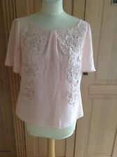 LOVELY COAST PINK/PEACHY FLORAL EMBOSSED TOP UK SIZE 12 NWOT