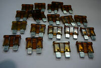 7.5 amp STANDARD CAR BLADE FUSES 7.5A BROWN BLADE FUSES (20 PACK)