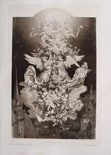 Ludwig Richter Christnacht Weihnachten Heilig Abend Christbaum Engel Stern Putte