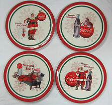 Coca-Cola Christmas Plates Set of 4 - New