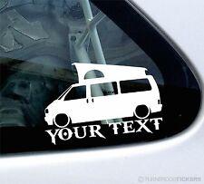 Custom Text ,LOW Volkswagen VW T4 westfalia california camper Sticker / Decal