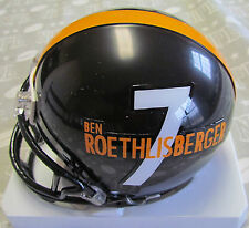 Riddell Pittsburgh Steelers Ben Roethlisberger Player Mini Helmet (1/2 size)