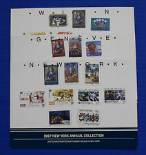 United Nations - 1987 Annual Collection with MNH stamps