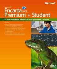 MICROSOFT ENCARTA 2008 PREMIUM+STUDENT ENCICLOPEDIA MULTIMEDIALE_UFFICIALE!NUOVA