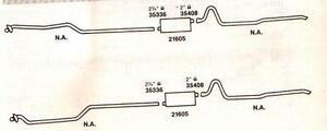 1961-1962 PONTIAC CATALINA, G.PRIX & VENTURA DUAL EXHAUST, ALUMINIZED, 425 A ENG