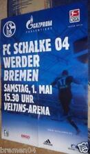 Plakat + Poster + Schalke + Werder Bremen + 01.05.2010
